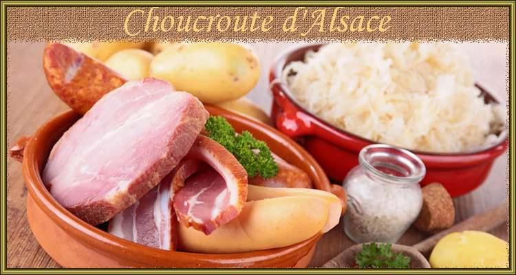 Recettede cuisine : Choucroute d'Alsace