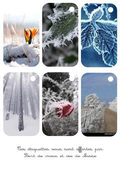 Cartonnettes hiver à imprimer