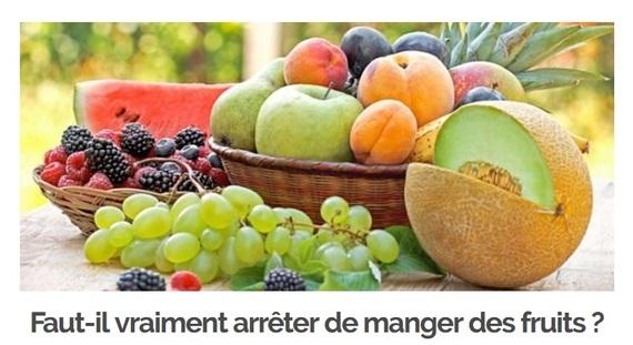 Commentaire 6/8/2017 Faut-il vraiment arrêter de manger des fruits ?