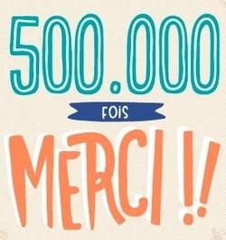 500 000 visites : merci !