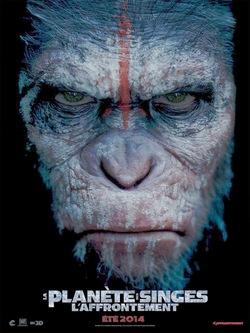 La planète des singes l'affrontement affiche