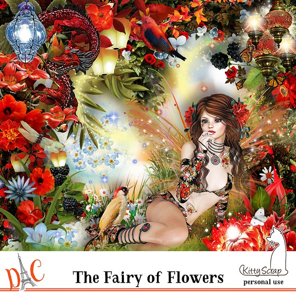 kit the fairy of flowers de kittyscrap