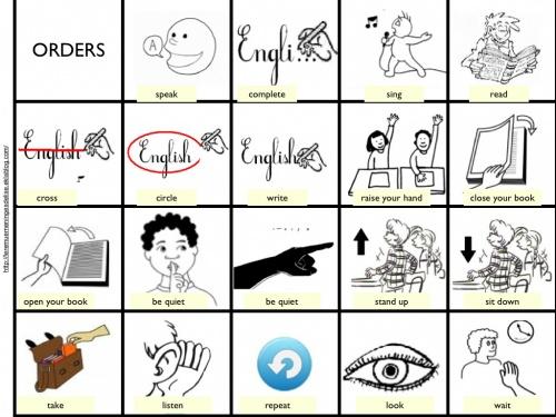 Jeux pour travailler les consignes en anglais