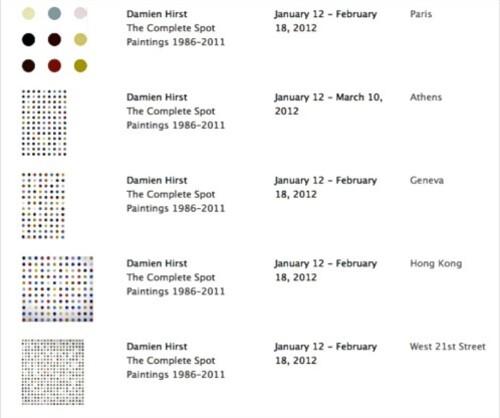 Hirst dot painting Gagosian 1