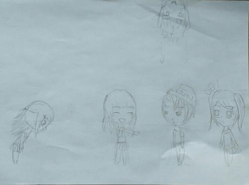Et oui, je dessine pendant les cours ^^'