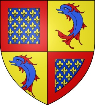 Blason du futur Charles V le Sage (XIVe siècle)