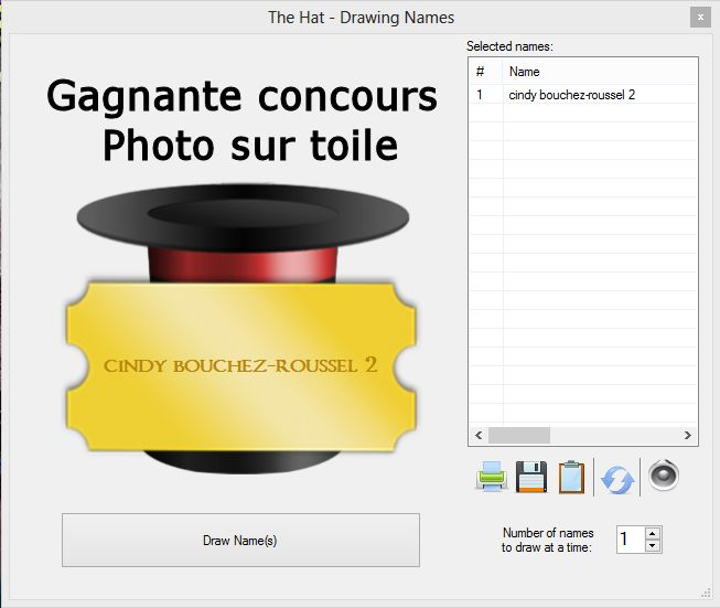 Gagnant concours photo sut toile