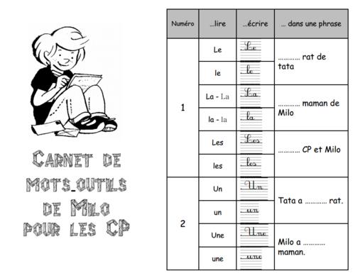 Carnet de mots-outils