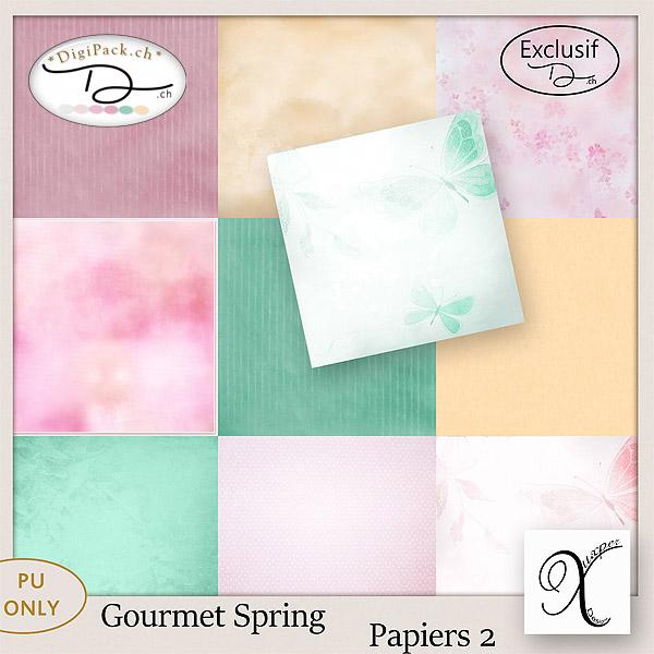 Gourmet spring papiers 2