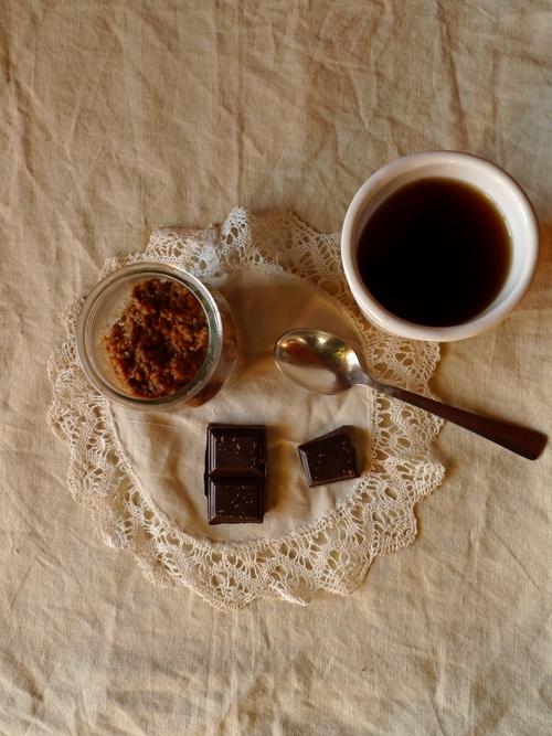 Porridge chocolat café