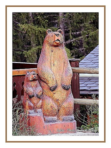 Ours en bois - Courchevel