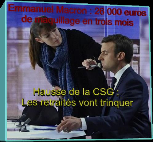 Emmanuel Macron 26 000 euros de maquillage en trois mois