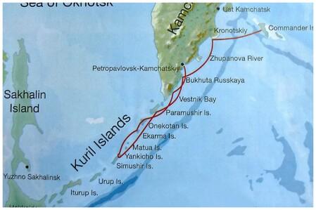 Mon parcours dans les Îles Kouriles