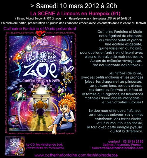 LES HISTOIRES DE ZOE, de Catherine Fontaine et Marie au festival Méli Mélo, dans l'Essonne