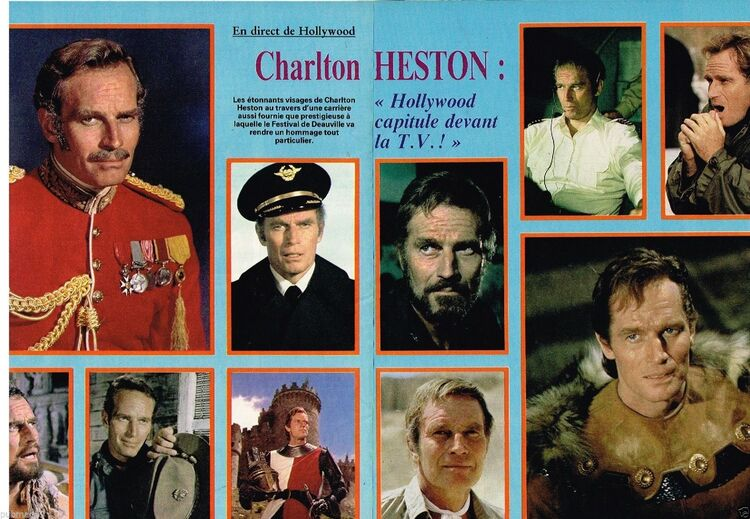 CHARLTON HESTON DANS LA PRESSE FRANCAISE