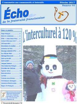 ''Echo'' de la fraternité franciscaine du Québec