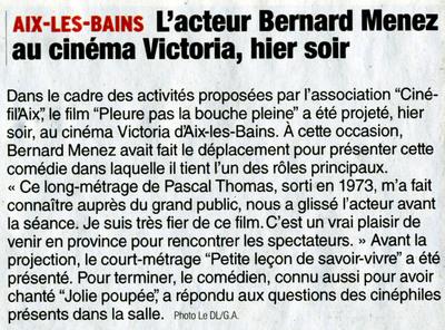 Bernard Menez à Aix