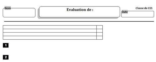 Modèle vierge d'évaluation