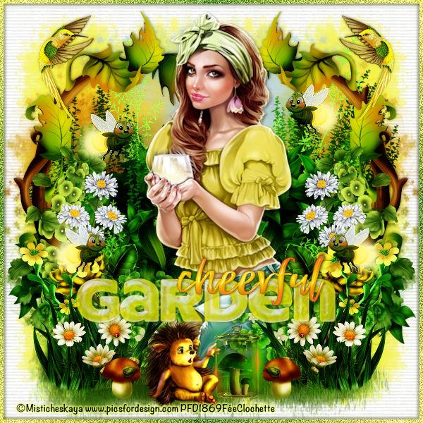 Esther in cheerful garden