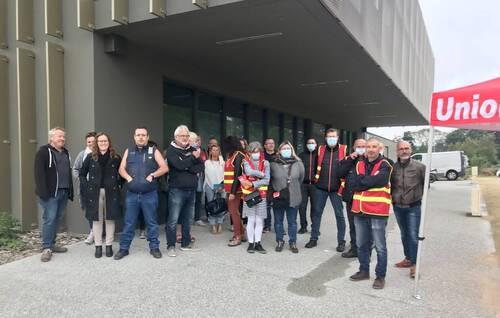 Finistère. Les salariés d'Orange mobilisés pour défendre leurs conditions de travail. ( OF.fr - 21/09/21 - 14h30 )