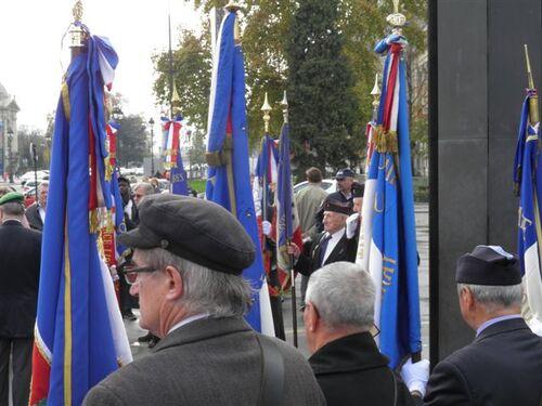 * cérémonies de ce jour au pont Bir Hackeim et la statut du Général au bas des Champs Elysées.