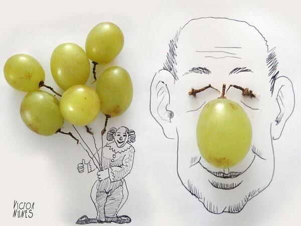 Victor Nunès   ...  Créations originales avec aliments !