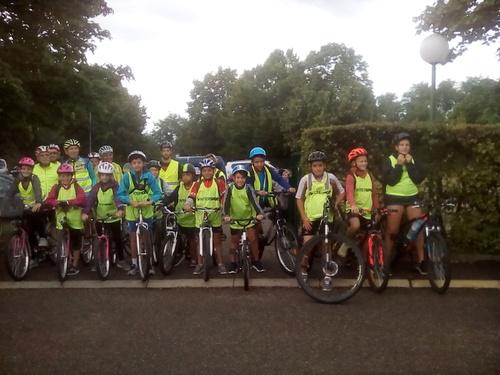 Accompagnement enfants en vélo