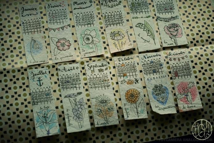 Défi gravure 12/12 - Une collection de marque-pages