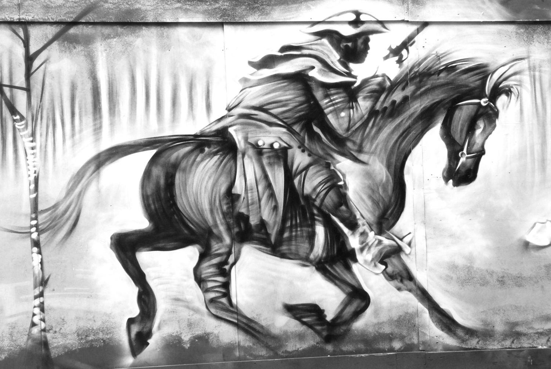 Street art à Londres Balade en N&B #171008