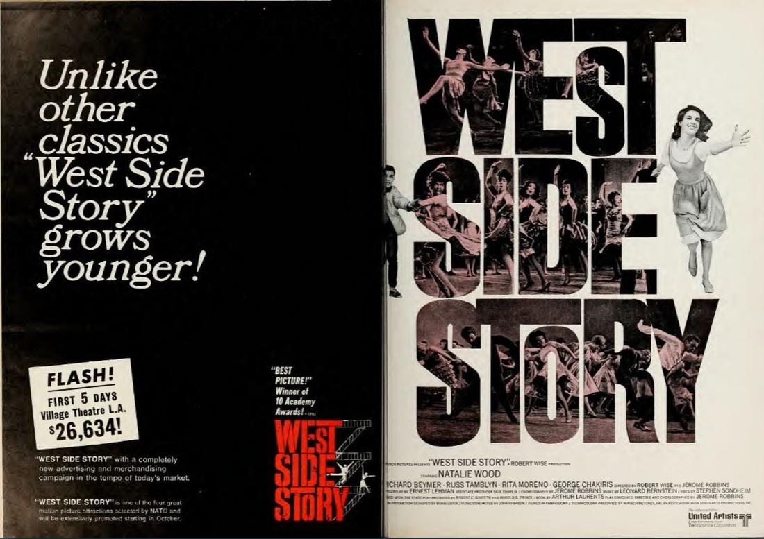 Réédition de WEST SIDE STORY BOX OFFICE USA 1968