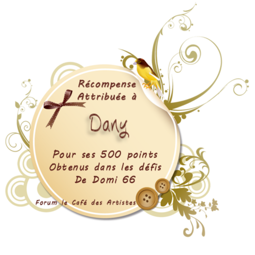 Récompense de Domi