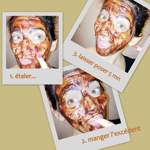 Masque au chocolat maison
