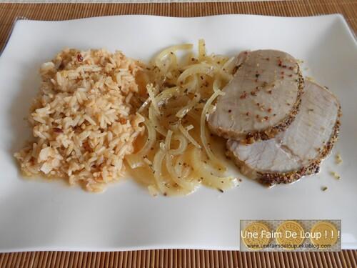 Rôti de porc au miel & moutarde à l'ancienne