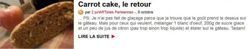 carrot cake, le retour