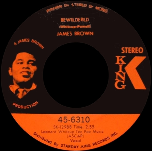 James Brown : Single SP King Records 45-6310 [ US ] May 1970 Brother Rapp [ Parts 1 &  2 ]