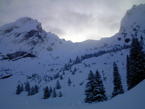 Combes Des Aravis - ski rando 28 01 2012