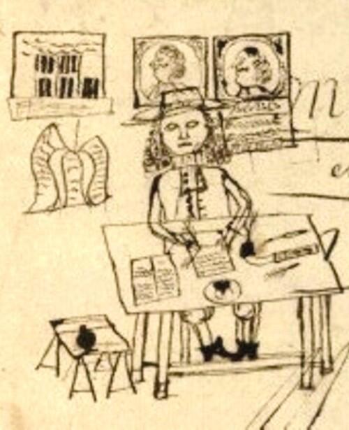 Le Notaire, Tabellionage de Vémars (Val-d'Oise), en 1674 (ou 1614 ?)