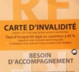 Carte d'invalidité civile