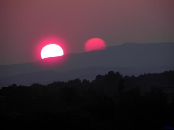 Un coucher de soleil particulier