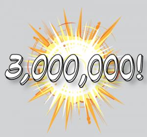 3 000 000 de visiteurs