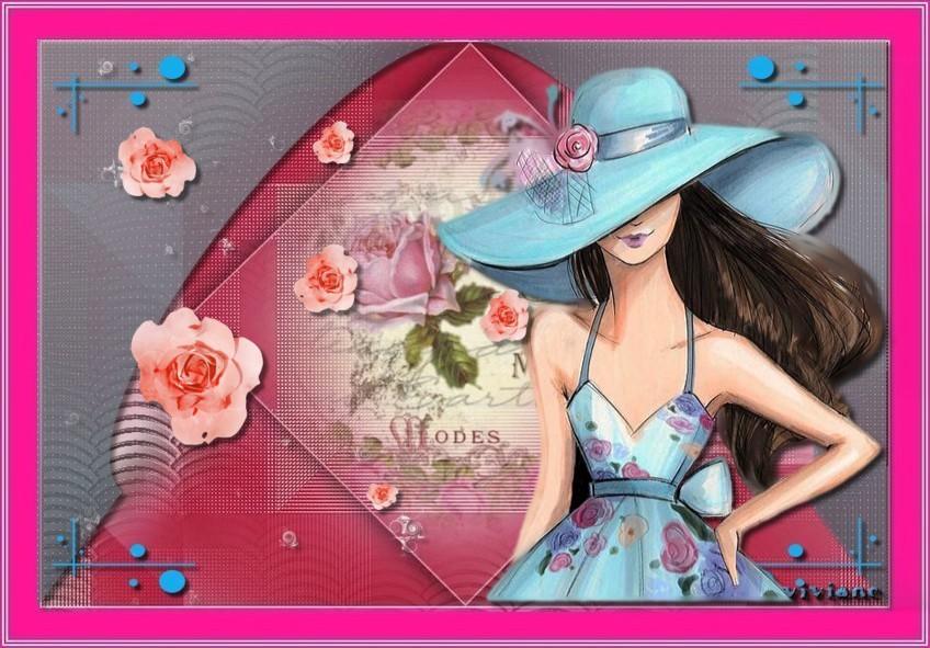 Fantaisie en rose et bleu