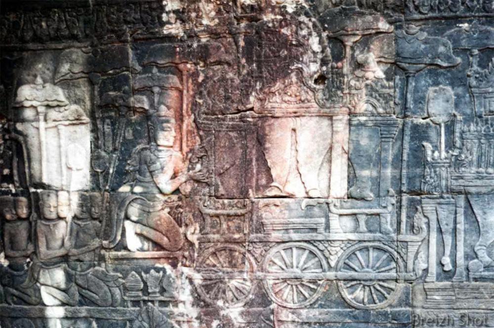 Angkor Thom, le Bayon  - bas-relief