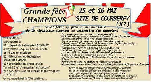 communiqué de presse  république autonome et volontaire des champions  an 02