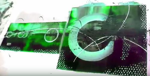 Dessin et peinture - vidéo 2018 : Peindre une peinture acrylique abstraite sur deux toiles de dimension différente.