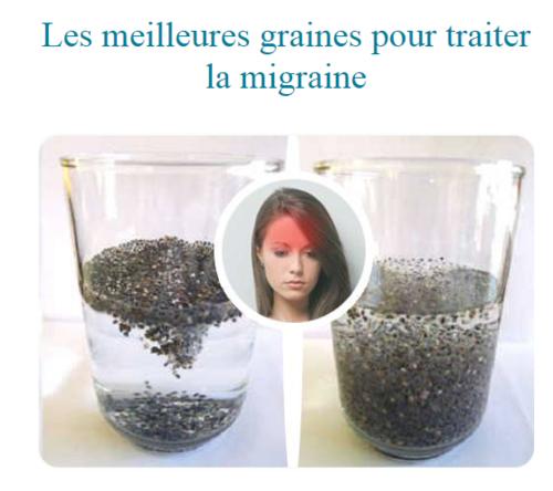 Les meilleures graines pour traiter la migraine