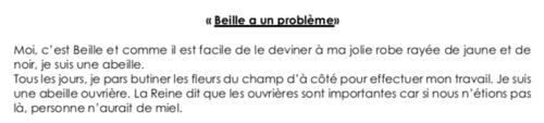 Beille, le texte pour amorcer le projet «abeilles et biodiversité»