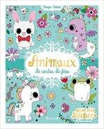 Chronique Animaux de contes de fées avec des stickers à colorier