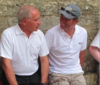 François Patriat et Bernard Hinault courir pour la Paix 2009 - 2010