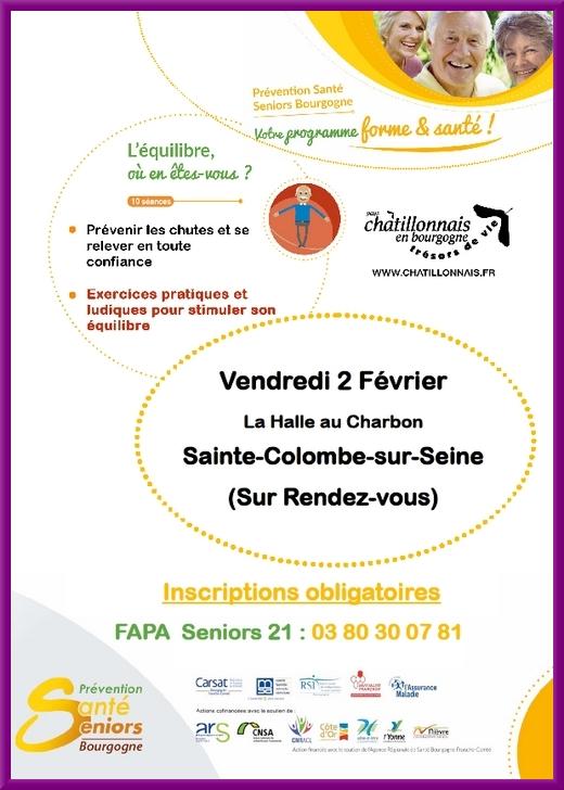 Ateliers du Programme Prévention Santé Seniors Bourgogne
