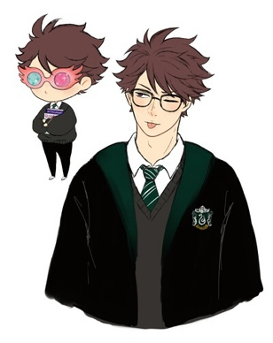 Image de anime, boy, and hogwarts